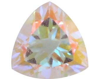 Mystic Mercury Topaz Trillion Cut Loose Gemstone 1A Quality 8mm TGW 1.50 cts.