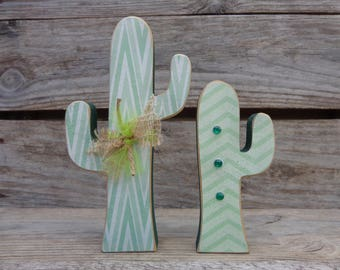 Cactus Decor - Southwest Decor - Desert Decor - Cactus Set of 2