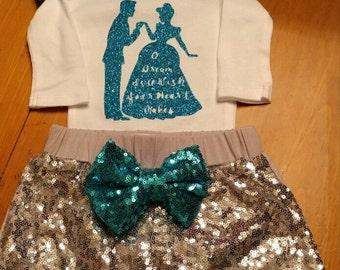 Cinderella 3 Piece Outfit set