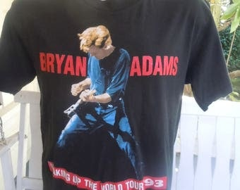 Size XL (47) ** 1993 Bryan Adams Concert Shirt (Double Sided)