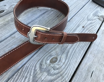 Leather Guitar Strap, Custom Made, Adjustable