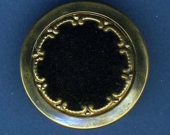 Antique Button Velvet Fabric in Brass