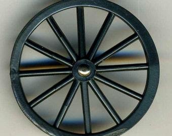 Vintage Button, Plastic Wheel, Large