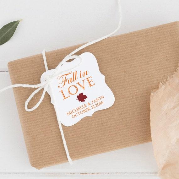 ... favors - Wedding favor tags - Wedding tags - Fall tags - Wedding gift