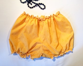 Orange bloomers for women in Broderie Anglaise / bloomers / retro Lingerie