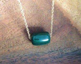 Malachite necklace / malachite single bead necklace / malachite jewelry