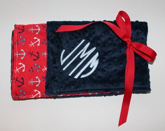 Monogrammed Baby Minky Blanket- Custom made for boy or girl. Different sizes available. Perfect baby shower gift!