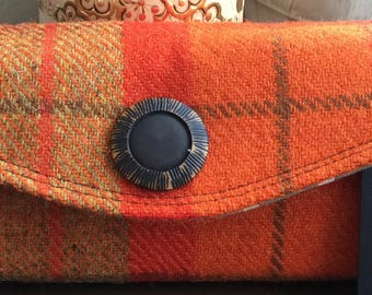 A Beautiful Handcrafted Harris Tweed Clutch Wallet