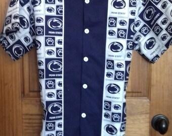 """Penn State Nittany Lions """"retro"""" Bowling Shirt"""