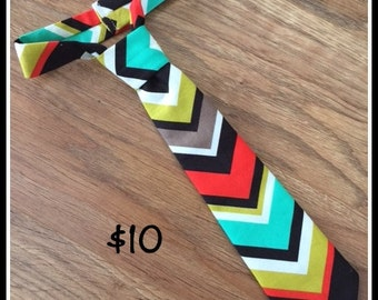 Little Boy Handmade Necktie / Chevron Tie