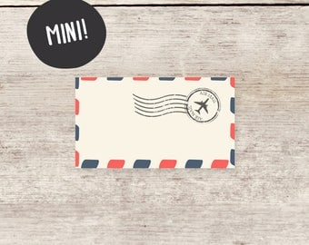 MINI! Blank Mini Airmail cards