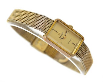 Vintage Omega De Ville Cal.625 Gold Plated Hand Wind Ladies Petite Watch 141- Make me an offer!