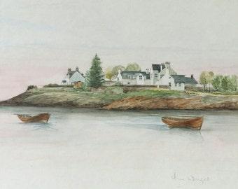 Seascape watercolour