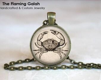 GIANT CRAB Pendant •  Crab Sea Creature •  Vintage Crab •  Sailor •  Steampunk • Gift Under 20 • Made in Australia (P1307)