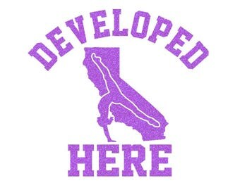 CALIFORNIA Develeped Here Iron On Decal