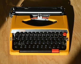 Working Typewriter - Beautiful Mango Colored Brother 250TR De Luxe - Fully Serviced
