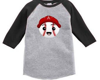 Razorback Baseball Raglan for Toddler