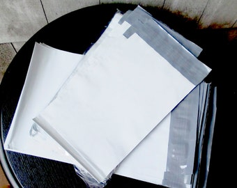 White Poly Mailer Envelopes 7.5 x 10.5 set of 50- Waterproof, Tear Resistant and Lightweight for many shipping needs