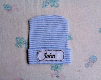 Personalized Baby Boy Hospital  Hat