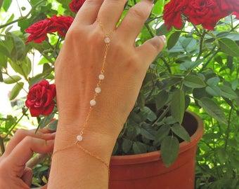 Finger Bracelet, Slave Bracelet Ring, 14k Gold Fill or Sterling Silver, Hand Chain Bracelet, Body Jewelry, Bridesmaid Gift, Delicate Jewelry
