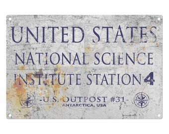 The Thing: Outpost 31 Metal Sign