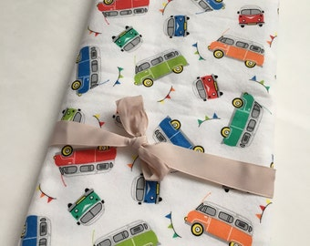 Let's GO flannel swaddle blanket, Baby Receiving Blanket, swaddle blanket, stroller blanket