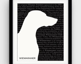 Literary Art Prints Wiemaraner Art Pet Portrait Art Minimalist Posters Wiemaraner Print Dog Lover Gift Pet Gift Large Printable Art Posters