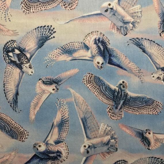 Snowy Owl Fold Over Clutch / Cross Body