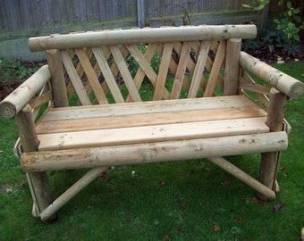 Two Seat Softwood Rustic Bench