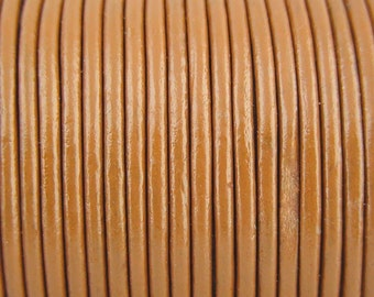 2mm Toffe Leather Cord 10 Yards