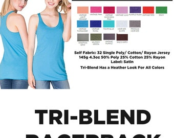 Custom Printed Next Level Tri Blend Racerback Tanks