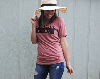 Vacation Shirts - Vacation Tees - Womens Graphic Tees - Spring Break - Lazy Days - Girls Weekend Shirt - Comfy Tee - Mountain Shirt