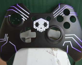 Overwatch Custom Painted Sombra Xbox One Controller Faceplate