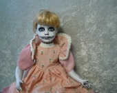 Sitting Creepy Doll with Evil Smile #58 Dark Art Horror Collectible Day of the Dollies