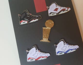 Michael Jordan AJ VI pin set (Air Jordan 6)
