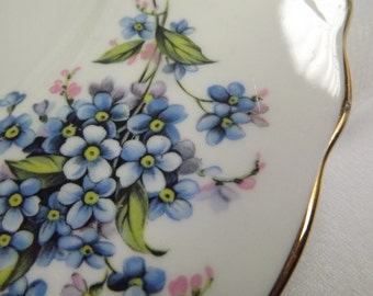 Cake plate , Vintage Royal Vale Forget Me Not Cake Plate