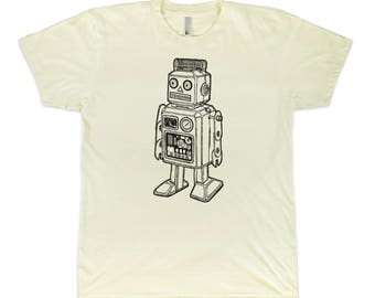 Vintage Robot Toy Graphic T-Shirt