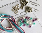 Wish Bracelet Kit, Make Your Own Wish Bracelet, Stocking Filler, Wish Bracelets, Bracelet Kits, DIY Bracelets, Gift for her, Party Gift
