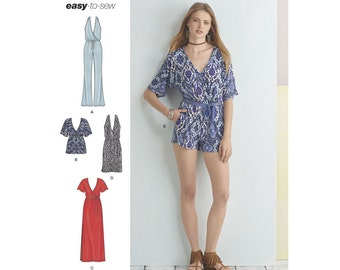 Simplicity Sewing Pattern 8333 Misses' Knit Jumpsuit and Dress
