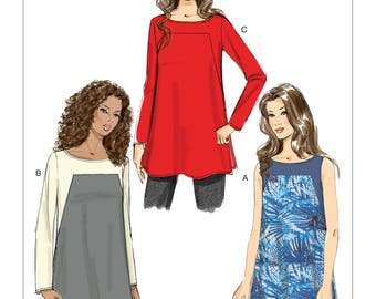 Vogue Sewing Pattern V9225 Misses' Square-Seam Tunics