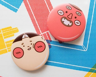 Yokai Badge - 44mm Badges   Funny Badge   Cute Badge   Tote Bag   Patches   Pins