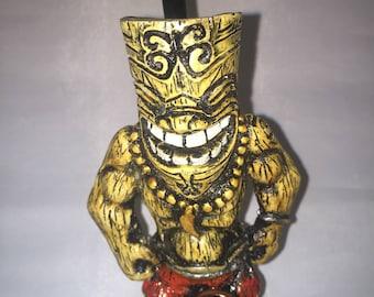 Tobacco Hand Made Pipe, Tiki God Design