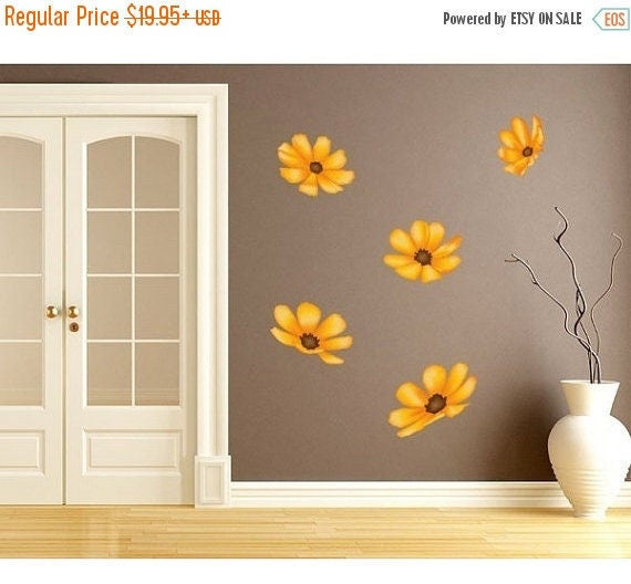 Sunflower Wall Print by StyleandApplyDecals