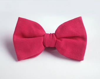 Pale Red Bow Tie / red bow tie / coral bow tie / wedding bow tie