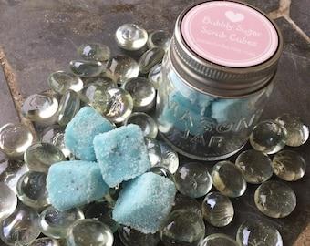 Bubbly Sugar Scrub Cubes ~Coconut  Vanilla ~