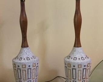 50's Lamps,Set of 2,FREE SHIPPING, Set of 2 Lamps,Teak