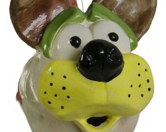 Mattia pesce dog collectible ceramic art sculpture italdesign Fazal-Italian ceramics-surrealism art modern art