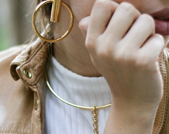 Gold Plated Earrings, Gold Plated Circular Earrings