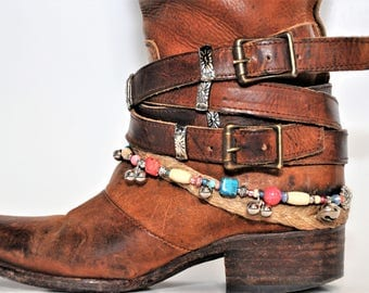 Handmade Beaded Boot Bracelet