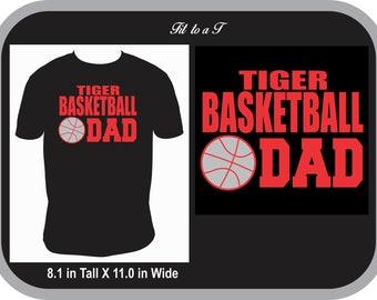 Basketball Dad T-Shirt, Basketball Fan Wear, Spiritwear, Basketball Dad Tee, Basketball Dad Gift